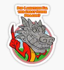 Great Stone Dragon Sticker