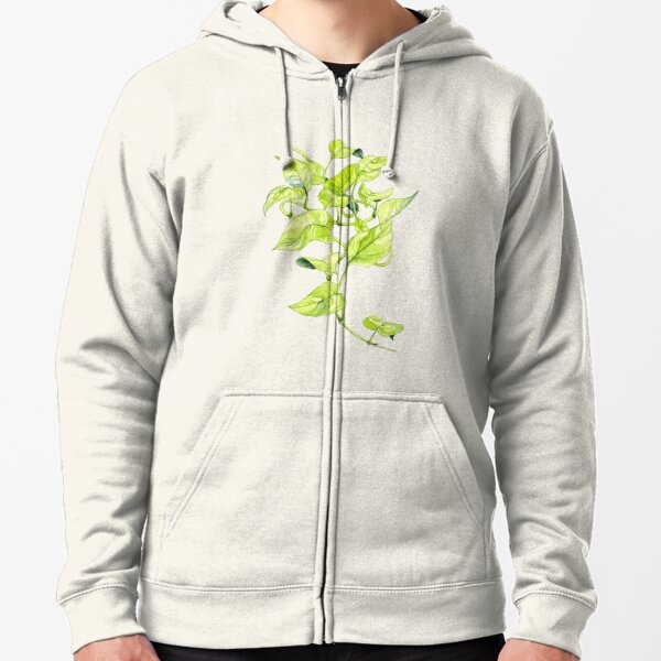 Devils Ivy Illustration Zipped Hoodie