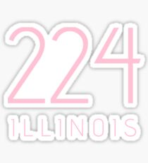 ILLINOIS 224 • ROSE Sticker