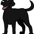 Smiling Black Lab  by rmcbuckeye