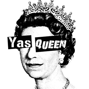 Yas Queen Elizabeth England London Funny LGBT Shirts by narc0l3ptic