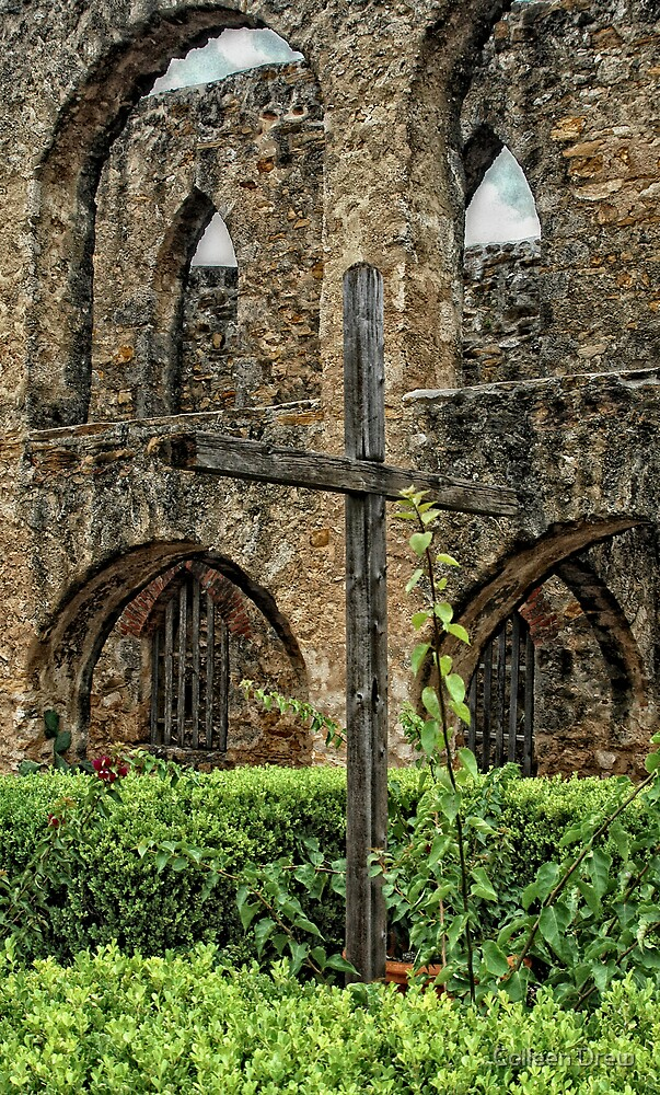 Cross at Mission San Jose by Colleen Drew