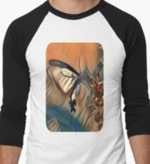 Butterfly Collecting Pollen Men's Baseball ¾ T-Shirt