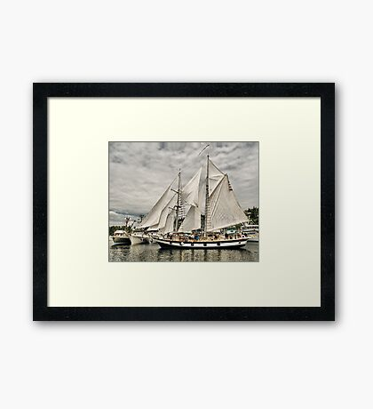 Grace and the Fleet Framed Print