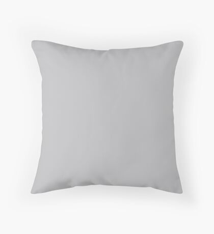 Quiet Gray | Pantone Fashion Color | Fall : Winter 2018 | New York and London | Solid Color Throw Pillow