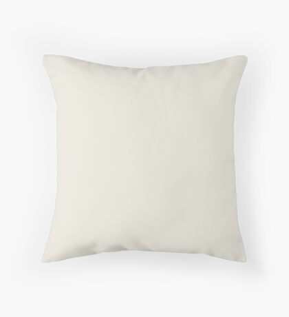 Tofu | Pantone Fashion Color | Fall : Winter 2018 | New York and London | Solid Color Throw Pillow