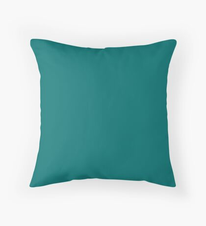 Quetzal Green| Pantone Fashion Color | Fall : Winter 2018 | New York and London | Solid Color Throw Pillow