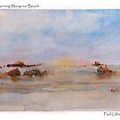 Mangrove Beach Misty Morning - Watercolour by Paul Gilbert