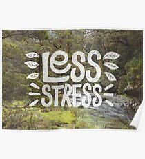 Póster Menos estrés