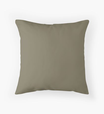 Martini Olive | Pantone Fashion Color | Fall : Winter 2018 | New York and London | Solid Color Throw Pillow
