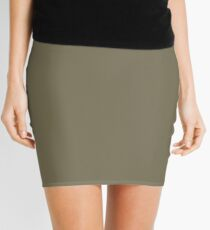 Martini Olive | Pantone Fashion Color | Fall : Winter 2018 | New York and London | Solid Color Mini Skirt