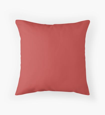 Valiant Poppy | Pantone Fashion Color | Fall : Winter 2018 | New York and London | Solid Color Throw Pillow