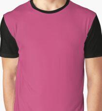 Pink Peacock | Pantone Fashion Color | Autumn : Winter 2018 | London | Solid Color Graphic T-Shirt