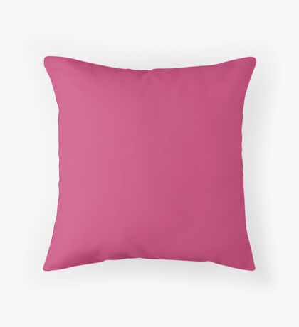 Pink Peacock | Pantone Fashion Color | Autumn : Winter 2018 | London | Solid Color Throw Pillow