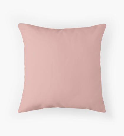 Mellow Rose | Pantone Fashion Color | Autumn : Winter 2018 | London | Solid Color Throw Pillow