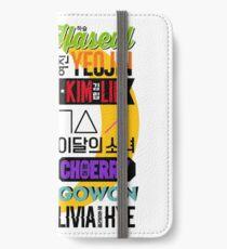 LOONA Schriftart Collage 2 iPhone Flip-Case/Hülle/Klebefolie