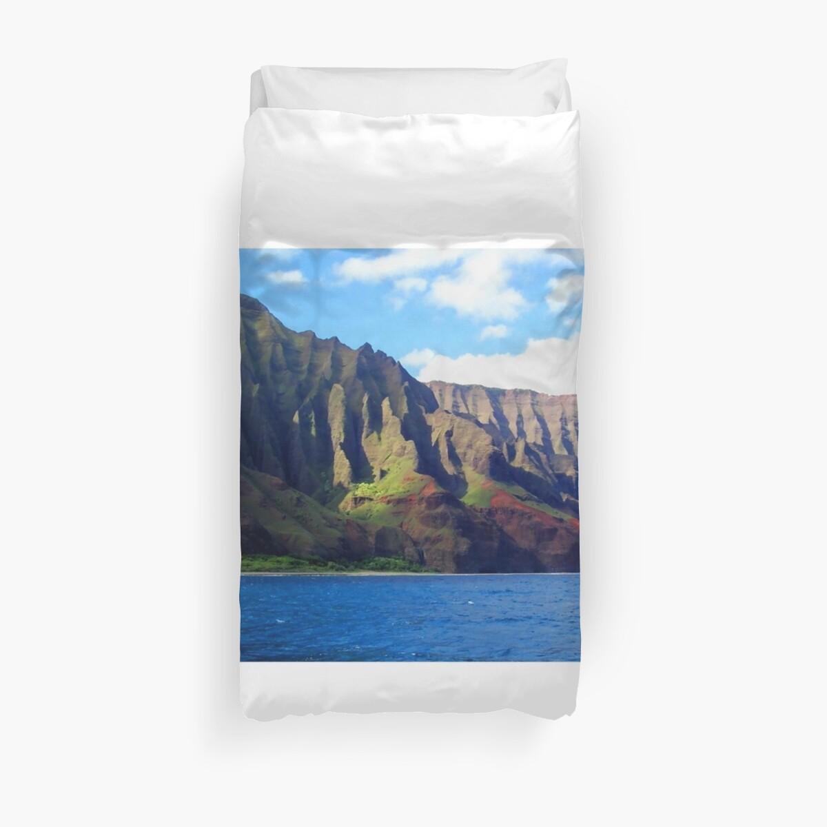 Blue Pacific and Rugged Na Pali Coastline of Kauai Hawaii by Amy McDaniel