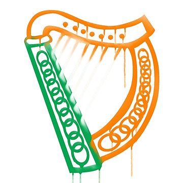Celtic harp by honeythief