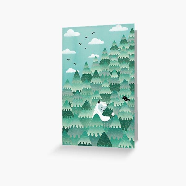 Tree Hugger (Spring & Summer version) Greeting Card