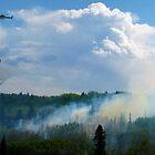 Epic Aerial Firefighting (Cochrane, Ab, Canada) by Barrie Daniels