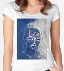 Starry, Starry, Seska Women's Fitted Scoop T-Shirt