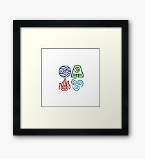 Avatar Four Elements Square Framed Print
