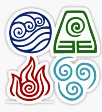 Avatar Four Elements Square Sticker