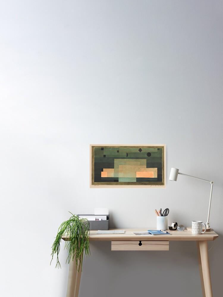 Paul Klee Premium-Poster Firmament über dem Tempel