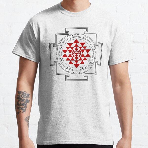 Sri Yantra Mandala (black & red) Classic T-Shirt