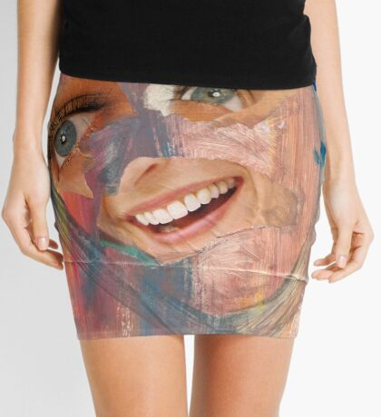 Head Collage Mini Skirt