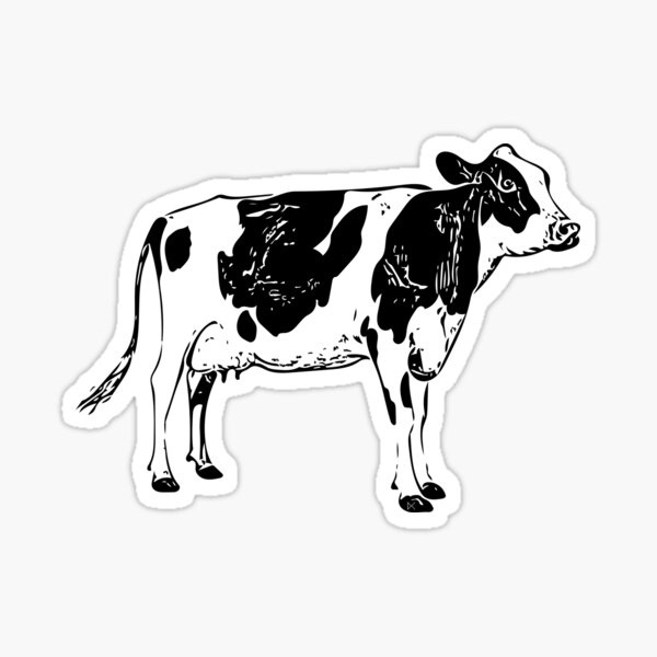 Lookout Cow Sticker