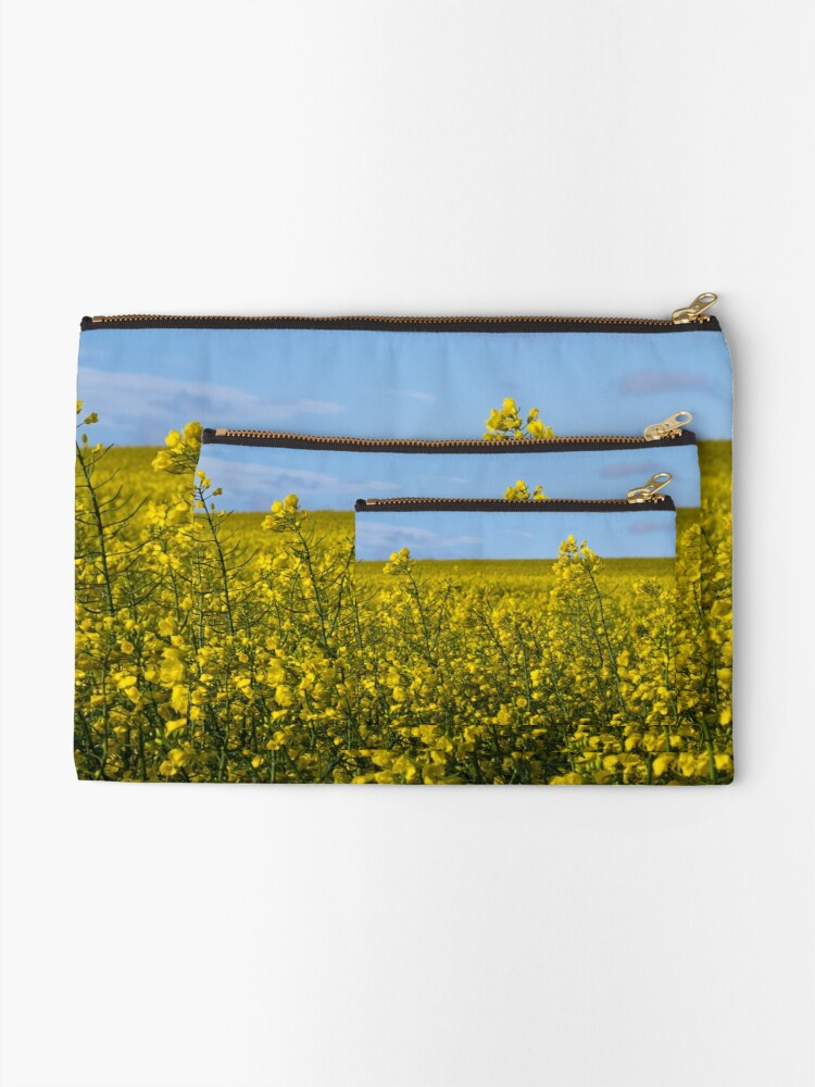 Alternate view of Yellow Zipper Pouch