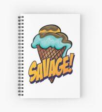 Savage Ice Cream Words Millennials Use   Spiral Notebook