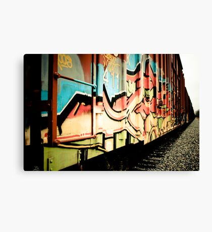Train Art Canvas Print