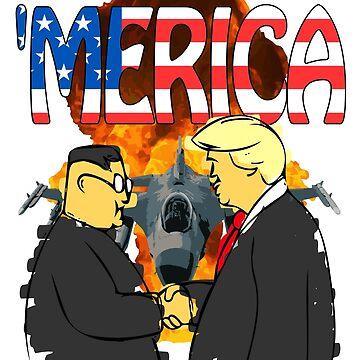 Merica President Trump Kim Jong-un Denuclearization Meeting by wrestletoys