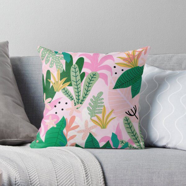 Into the jungle - sunup Throw Pillow