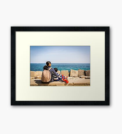 Mother with son Framed Print