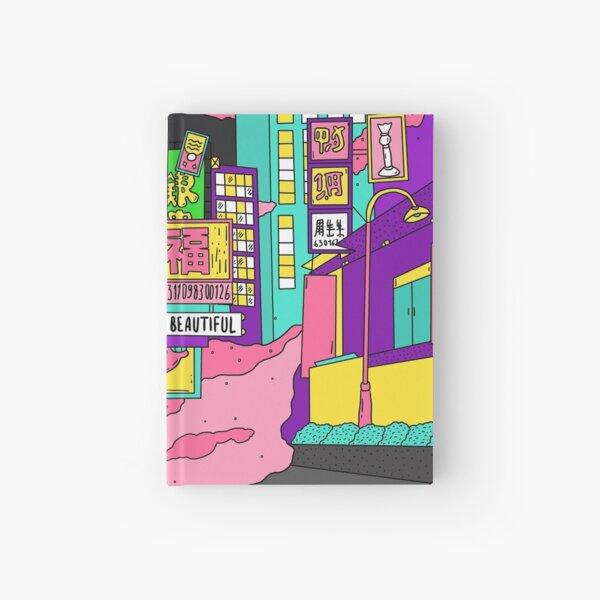 Liquid neon Hardcover Journal