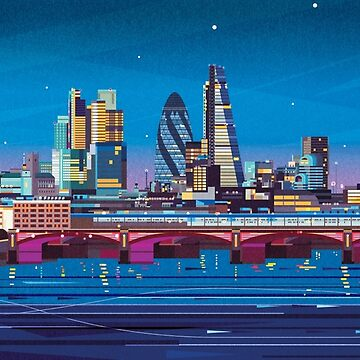 London Skyline  by jamesboast