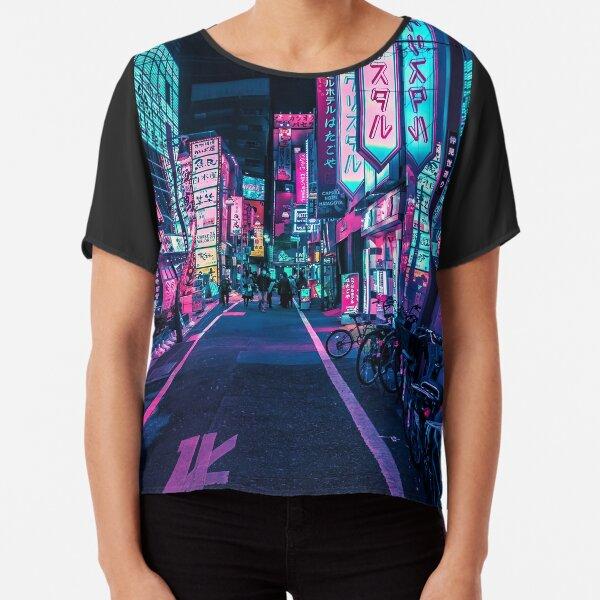 Tokyo - A Neon Wonderland  Chiffon Top
