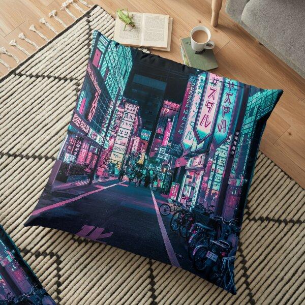 Tokyo - A Neon Wonderland  Floor Pillow