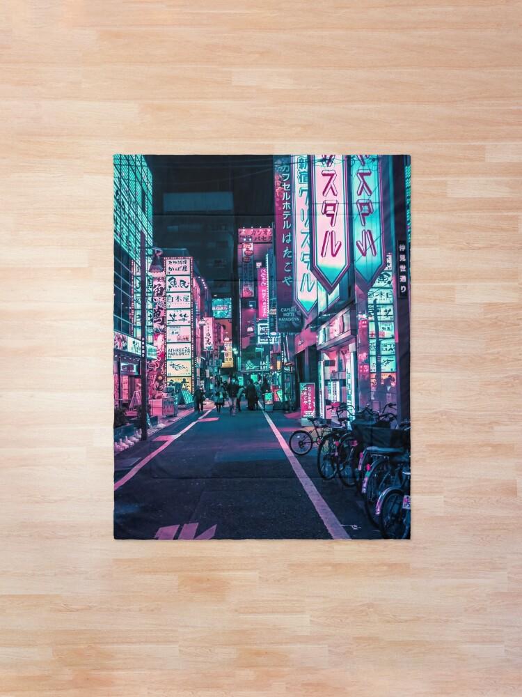 Alternate view of Tokyo - A Neon Wonderland  Comforter