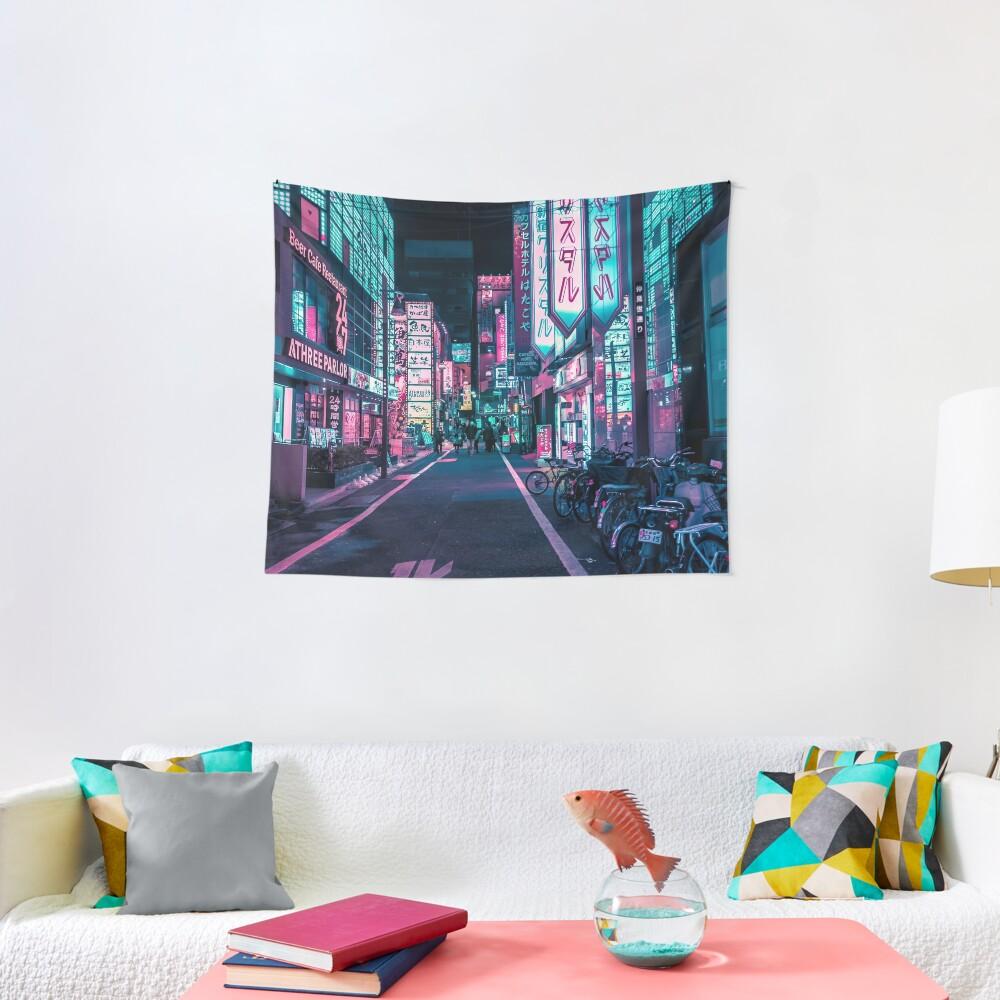 Tokyo - A Neon Wonderland  Tapestry