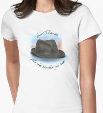 Hut für Leonard Cohen Tailliertes T-Shirt