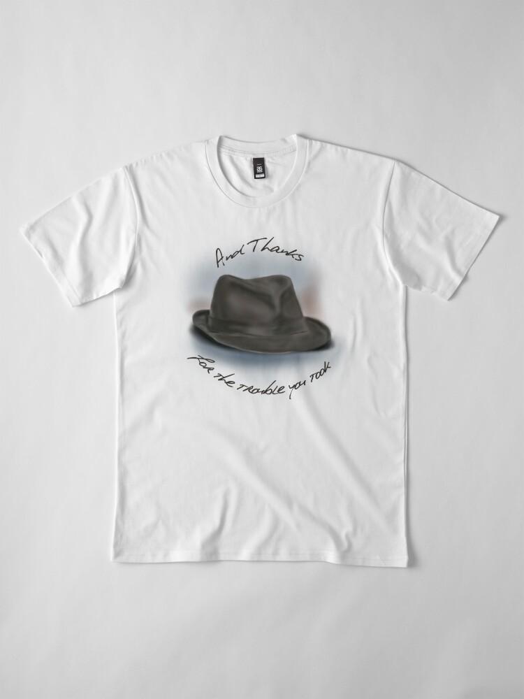 Vista alternativa de Camiseta premium Sombrero para Leonard Cohen