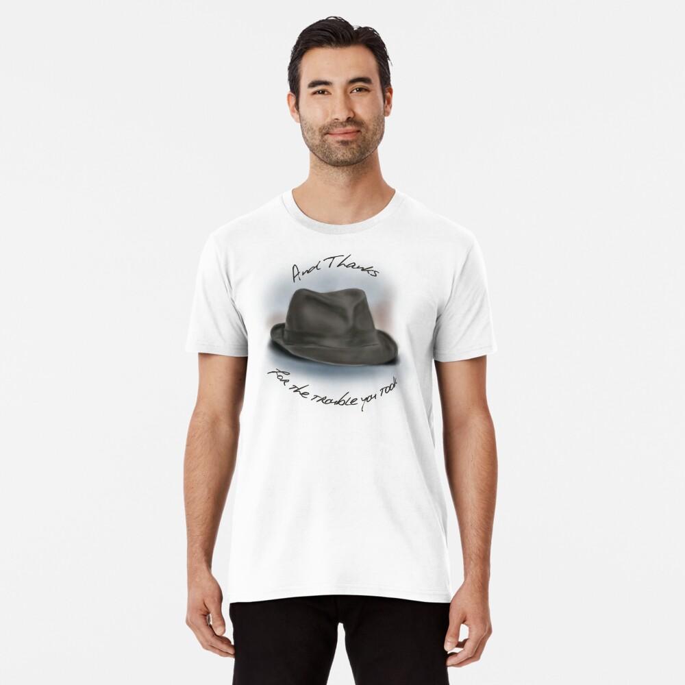 Sombrero para Leonard Cohen Camiseta premium