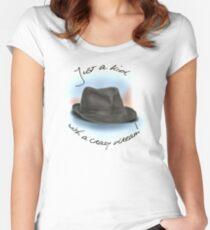 Hut für Leonard Cohen Tailliertes Rundhals-Shirt