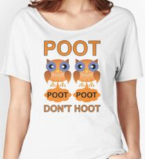 Two Poots not Two Hoots Women's Relaxed Fit T-Shirt