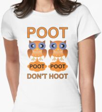Two Poots not Two Hoots Women's Fitted T-Shirt
