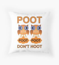 Two Poots not Two Hoots Throw Pillow